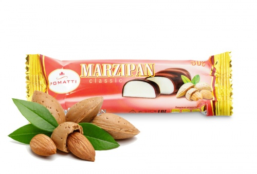 Marzipan bar in dark chocolate